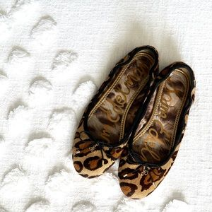 Sam Edelman Leopard Flats! Size 6.5!
